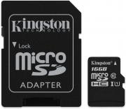 Карта памяти micro SDHC 16 ГБ Kingston Canvas Select (SDCS/16GB)